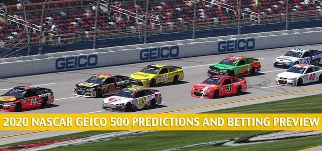 GEICO 500 Predictions, Picks, Odds, and Betting Preview | June 21 2020