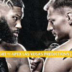 UFC Fight Night at Apex Las Vegas Predictions, Picks, Odds and Betting Preview | June 20 2020