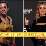 Amanda Ribas vs Paige Vanzant Predictions, Picks, Odds and Betting Preview | UFC 251 at Fight Island - July 11 2020