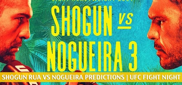 Mauricio Shogun Rua vs Antonio Rogerio Nogueira Predictions, Picks, Odds and Betting Preview | UFC Fight Night – July 25 2020