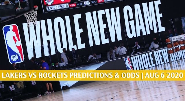 LA Lakers vs Houston Rockets Predictions, Picks, Odds, and Betting Preview | August 6 2020