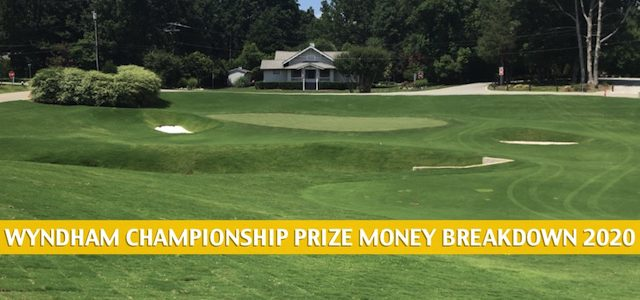 2020 Wyndham Championship Purse and Prize Money Breakdown