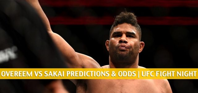 Alistair Overeem vs Augusto Sakai Predictions, Picks, Odds, and Betting Preview | UFC Fight Night September 5 2020
