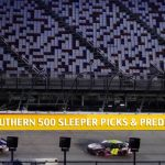 Cook Out Southern 500 Sleepers and Sleeper Picks and Predictions