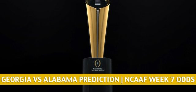 Georgia Bulldogs vs Alabama Crimson Tide Predictions, Picks, Odds, and NCAA Football Betting Preview – October 17 2020