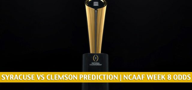 Syracuse Orange vs Clemson Tigers Predictions, Picks, Odds, and NCAA Football Betting Preview   October 24 2020