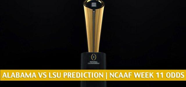 Alabama Crimson Tide vs LSU Tigers Predictions, Picks, Odds, and NCAA Football Betting Preview | November 14 2020