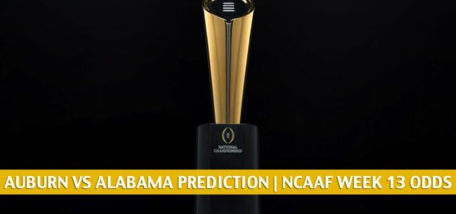 Auburn Tigers vs Alabama Crimson Tide Predictions, Picks, Odds, and NCAA Football Betting Preview | November 28 2020