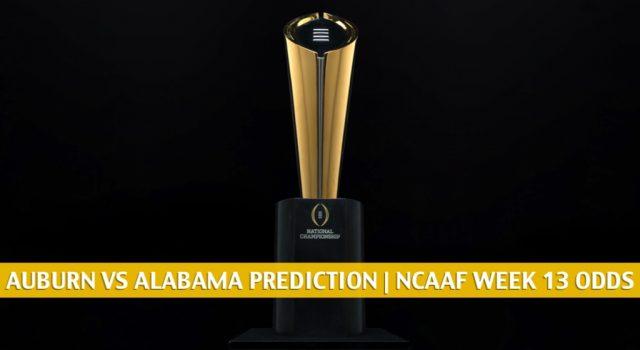 Auburn Tigers vs Alabama Crimson Tide Predictions, Picks, Odds, and NCAA Football Betting Preview | November 28 2020