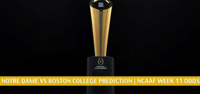 Notre Dame Fighting Irish vs Boston College Eagles Predictions, Picks, Odds, and NCAA Football Betting Preview | November 14 2020
