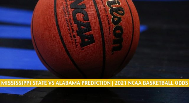 Mississippi State Bulldogs vs Alabama Crimson Tide Predictions, Picks, Odds, and NCAA Basketball Betting Preview – January 23 2021