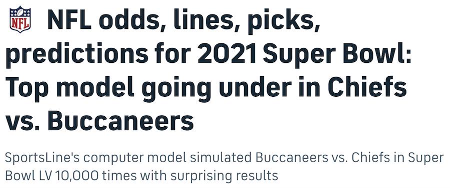 Computer Super Bowl Predictions 2021 - Super Bowl LV Robot Picks