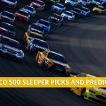 2021 GEICO 500 Sleepers and Sleeper Picks and Predictions