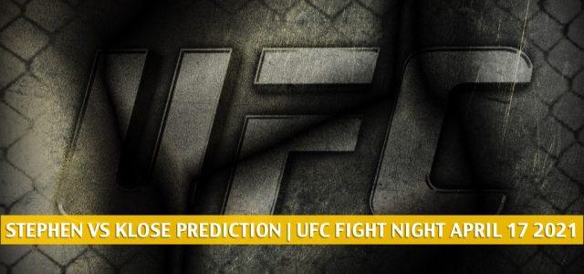 Jeremy Stephens vs Drakkar Klose Predictions, Picks, Odds, and Betting Preview   UFC Fight Night April 17 2021