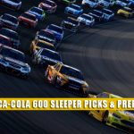 2021 Coca-Cola 600 Sleepers and Sleeper Picks and Predictions