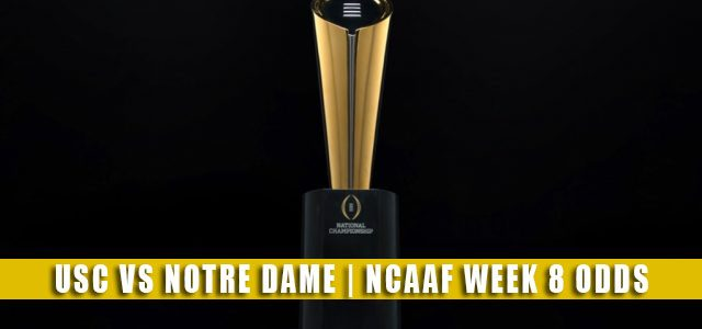 USC Trojans vs Notre Dame Fighting Irish Predictions, Picks, Odds, and NCAA Football Betting Preview | October 23 2021