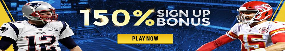 150% Sign-up Bonus