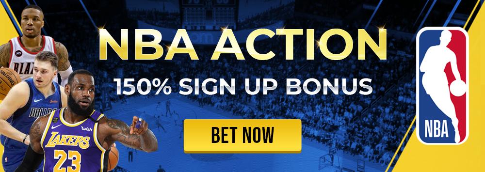 NBA Action 150% SIGN UP BONUS