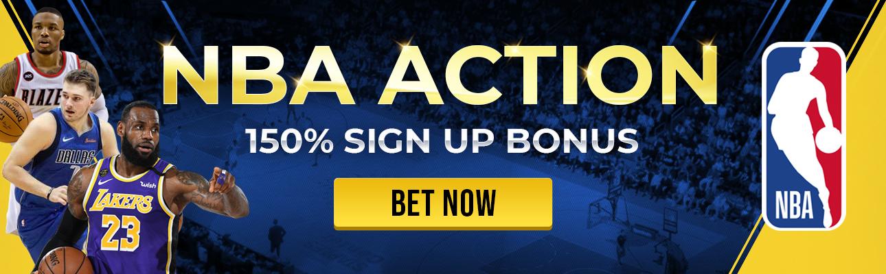 NBA Action 150% Signup Bonus